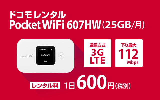 ドコモ Pocket WiFi 607HW